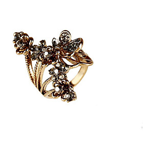 Women's Silver Plated Gold Plated Alloy Flower Butterfly Personalized Floral Flower Style Classic Vintage Flowers Ring Jewelry Gold / Silver For Wedding Party