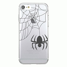 For iPhone 7Plus Case Cover Transparent Pattern Back Cover Case Animal Halloween spider Soft TPU for iPhone 7 6sPlus 6plus 6s 6  5 5s SE 6154909