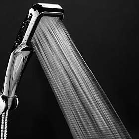 Pressure Shower Head 300 Holes With Chrome Square Rainfall Handhold Shower Head Water Saving Sprayer