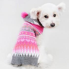 Gato Perro Abrigos Suéteres Ropa para Perro Fiesta Casual/Diario Cosplay Mantiene abrigado Boda Año Nuevo Navidad Rayas Rosa 6189227