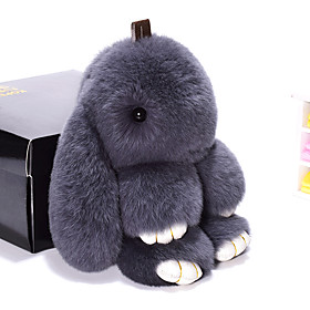 Bag / Phone / Keychain Charm Rabbit Cartoon Toy Rex Rabbit Fur 19CM 6180011