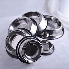 Cat Dog Bowls  Water Bottles Pet Bowls  Feeding Silver 6117037