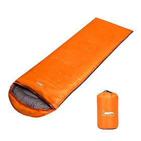 Sleeping Bag Outdoor Double Size -15 -25 0 °C Envelope / Rectangular Bag Hollow Cotton Breathable Keep Warm Adjustable Size Foldable for Camping / Hiking