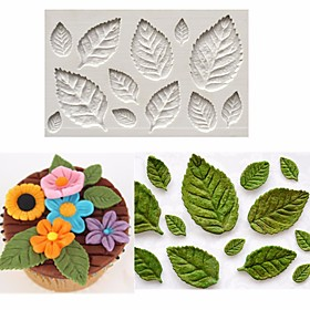 Rose Leaf Leaves Fondant Cake Silicone Molds Flower Cupcake Decorating Mould Baking Tools Random Color 6144114