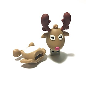 16GB Christmas USB Flash Drive Cartoon Christmas Deer Christmas Gift USB 2.0 6198588