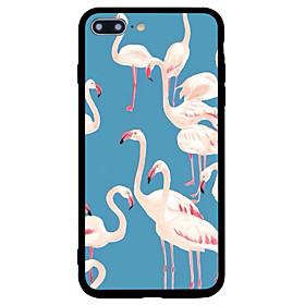 para capa de caso, capa a prova de choque, capa de tampa traseira, flamingo, animal, rígido, acrílico, para maçã iphone 7 plus iphone 7 6207112