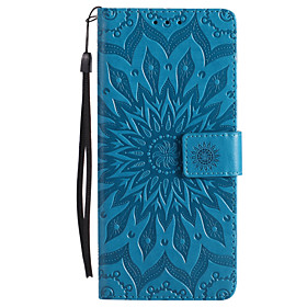 Case For Sony Xperia Z5 / Sony Xperia Z4 / Sony Xperia Z3 Wallet / Card Holder / with Stand Full Body Cases Flower Hard PU Leather for Sony Xperia Z2 / Sony Xp