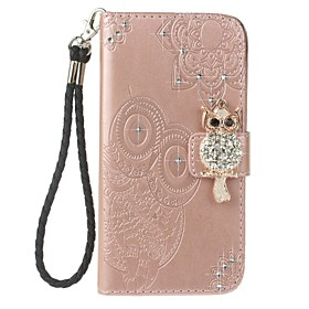 Case For Apple iPhone XS / iPhone XR / iPhone 7 Wallet / Card Holder / Rhinestone Full Body Cases Owl Hard PU Leather for iPhone XS / iPhone XR / iPhone XS Max