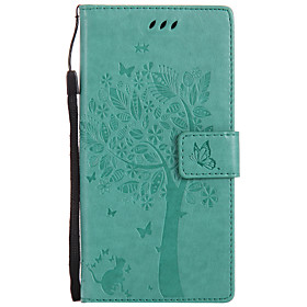 Case For Sony Xperia Z5 / Sony Xperia Z3 / Sony Xperia M4 Wallet / Card Holder / with Stand Full Body Cases Cat Hard PU Leather for Sony Xperia Z3 / Sony Xperi