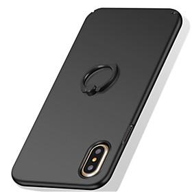 Capinha Para Apple iPhone X iPhone 8 iPhone 8 Plus iPhone 7 Suporte para Alianças Áspero Capa traseira Côr Sólida Rígida PC para iPhone X 6204475