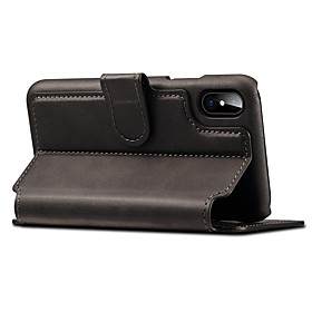Case For Apple iPhone X / iPhone 8 / iPhone 8 Plus Wallet / Card Holder / with Stand Full Body Cases Solid Colored Hard PU Leather for iPhone XS / iPhone XR /