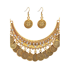Women's Jewelry Set - Silver Plated, Gold Plated Punk, Fashion Include Necklace Gold / Silver For Daily Evening Party / Earrings