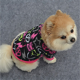 Dog Sweatshirt Dog Clothes Geometic Black Purple Fuchsia Polar Fleece Costume For Pets Casual/Daily 6250657