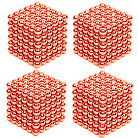 864 pcs 3mm Magnet Toy Magnetic Balls Building Blocks Puzzle Cube Metalic Contemporary Classic  Timeless Chic  Modern Stress and Anxiety Relief Office Desk Toy