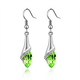 Women's Crystal Drop Earrings - Crystal, Rhinestone Personalized, Fashion Green / Light Blue / Royal Blue For Daily Casual