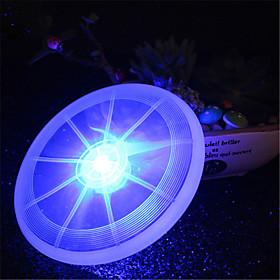HKV 1Pcs 2W White Red Green Pink Blue Yellow Warm white RGB LED Luminous Cup Pad Pet Frisbee Lamp 6204296