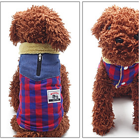 Dog Vest Dog Clothes Casual/Daily Plaid/Check Red Yellow 6251197