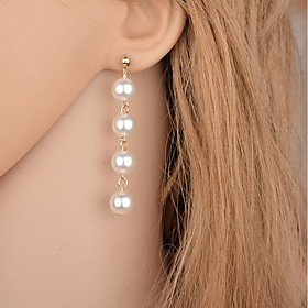 Women's Tassel Drop Earrings - Imitation Pearl Drop Simple Style, Fashion Gold / Silver For Party Casual