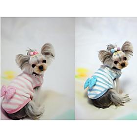 Cane Gilè Abbigliamento per cani Casual Fiocco Blu Rosa Costume Per animali domestici 6245430