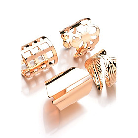 Women's Ring - Alloy Leaf Fashion One Size Gold / Silver For Daily Casual Evening Party