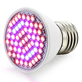 1pc 2.5 W 360-420LM E26 / E27 Growing Light Bulb 60 LED Beads SMD 2835 Red / Blue 85-265 V / 1 pc / RoHS / FCC