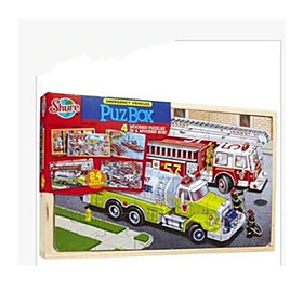 Jigsaw Puzzle Wooden Puzzles Toy Cars Train Fire Engine Vehicle Toys Dinosaur Train Truck Not Specified Pieces 6221087