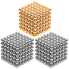 2163 pcs 3mm Magnet Toy Magnetic Balls Building Blocks Puzzle Cube Metalic Contemporary Classic  Timeless Chic  Modern Stress and Anxiety Relief Office Desk To