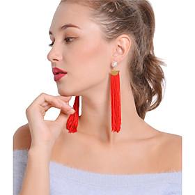 Women's Drop Earrings Hoop Earrings - Imitation Pearl Bohemian, Boho Black / Red For Party Daily