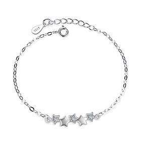 Women's Cubic Zirconia Chain Bracelet - Sterling Silver Star Bracelet Silver For Wedding Party