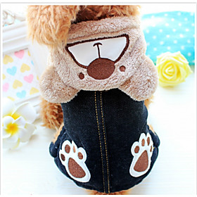 Dog Clothes/Jumpsuit Dog Clothes Casual/Daily Cartoon Brown Gray 6266303