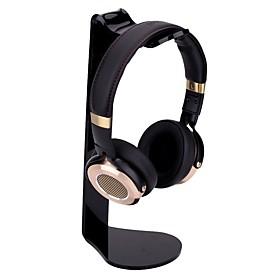 Miimall Universal Headphone Stand Acrylic L-shape Earphone Holder Headset Stand Headphone Rack for iPhone Samsung PC