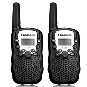 "Pair of T-388 Lovers Talking Mini 8KM Handheld  1"""" LCD Screen Walkie Talkie Two Way Radio with Flashlight"" 1047909"