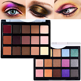 Pro 15 Color MatteShimmer Waterproof Eyeshadow Powder Kit Earth Tone Smoky Eye Shadow Makeup Cosmetic Palette 6329090