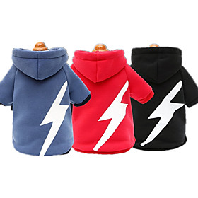 Dog Hoodie Dog Clothes Casual/Daily Geometric Blue Red Black 6266266