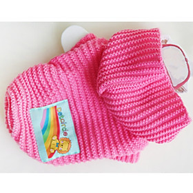 Dog Sweater Dog Clothes Geometic Yellow Blue Pink Chinlon Costume For Pets Casual/Daily 6266339