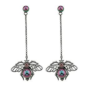 Women's Sculpture Long Drop Earrings Earrings Ladies Fashion Cute Jewelry Silver For Casual Date