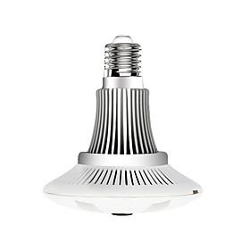 VESKYS 960P 1.3MP 360 Degree Fish Eye Lens Wireless Wi-Fi Full View Light Bulb IP Camera Smart Bulb Light for Home Security