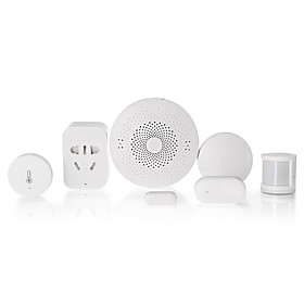 Xiaomi Mijia 6 in 1 Smart Home Security Kit -Wireless Switch/Window Door Sensor/Human Body Sensor/Temperature Humidity Sensor/Multi-Gateway/Outlet