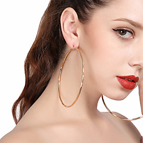 Women's Drop Earrings Hoop Earrings - Oversized Gold / Silver For Party Street