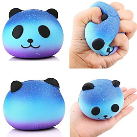 Stress Relievers Toys Round Galaxy Starry Sky Stress and Anxiety Relief Panda - Children's Adults' 1 Pieces 6399327
