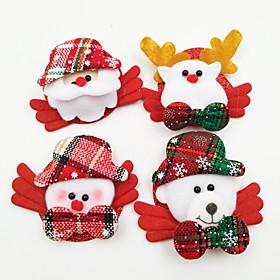 4 PCS/Set Luminous Christmas Brooch 6354281