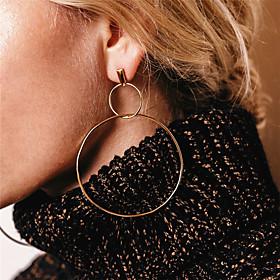 Women's Cubic Zirconia Drop Earrings Front Back Earrings / Ear Jacket - Infinity Oversized Gold / Silver For Party Daily