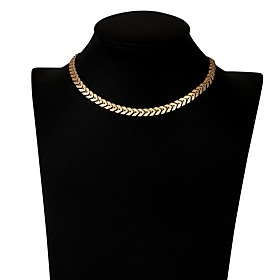 Women's Choker Necklace - Basic Gold Necklace Jewelry For Daily, Office  Career