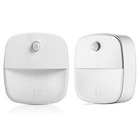 2Pcs Magnetic Infrared IR Bright Motion Sensor Activated LED Wall Night Light (Without Battery) 6412580
