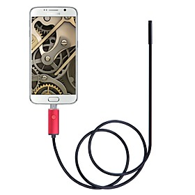 5.5mm Lens 2 In 1 USB Endoscope Camera IP67 Waterproof Inspection Borescope 2M Length Red For Windows Android Snake Cam