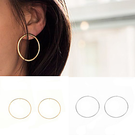 Women's Hoop Earrings - European, Simple Style, Fashion Gold / Silvery For Party Daily Casual