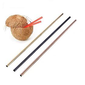 20OZ Metal Straw Colorful Aluminum Drinking Straws Food Grade Juicy Reusable Straws 6396903
