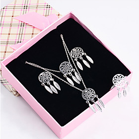 Women's Jewelry Set - Silver Plated, Gold Plated Dreamcatcher Elegant Include Drop Earrings Gold / Silver For Gift