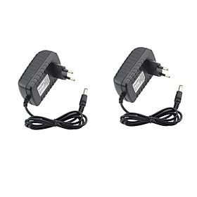 2pcs 12 V US / EU ABSPC Power Adapter for LED Strip light
