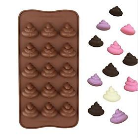 15 Lattices Shit Faeces Shape Food Grade Silicone Cake Mould Chocolate Candy Silicone Mold 6374492